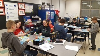 Pictures of Students participating in Wellston February 2019 It's My Turn/Goal Plan Success Student Transition Training