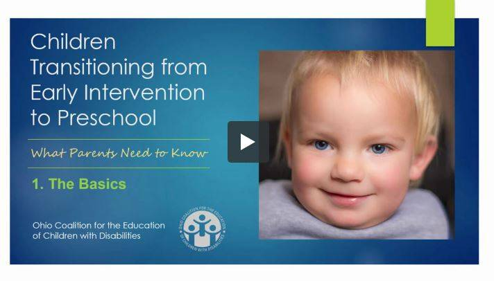 Children Transition from early intervention to preschool photo